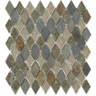 Soho Studio Art Glass Rustic Series Slate Diamond Crushed Glass Backsplash ARTGDIAMRUST