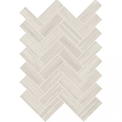 Daltile EL30 Elect Herringbone White Ceramic Tile