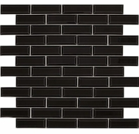 Daltile RV12 Revalia Bevel Gala Black Beveled Subway Tile