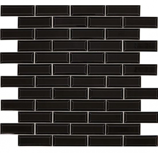 Revalia Bevel Gala Black Beveled Tile