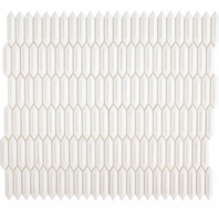 Daltile RV13 Revalia Picket Calming White Hexagon Ceramic Tile