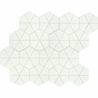 "Daltile RV16 Revalia Kaleidoscope White 6"" Hexagon Tile"