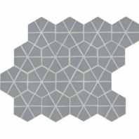 "Daltile RV17 Revalia Kaleidoscope Gray 6"" Hexagon Tile"
