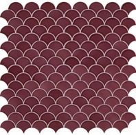Daltile RV32 Revalia Blissful Berry Ceramic Fan Tile