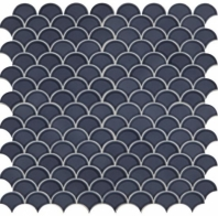 Daltile RV33 Revalia Radiant Blue Ceramic Fan Tile