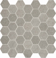 "Raine Cumulus Grey 2"" Hexagon Marble Mosaic"