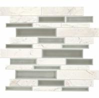 Daltile DA34 Raine Random Linear Stratus White Blend Mosaic Tile
