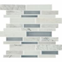 Daltile DA35 Raine Random Linear Cirrus Storm Blend Mosaic Tile