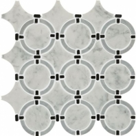 Daltile DA38 Raine Linked Ring Cirrus Storm Blend Waterjet Tile