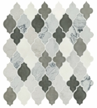 Daltile DA41 Raine Cirrus Storm Blend Arabesque Tile