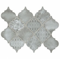 Daltile VM01 Vintage Metals Whitewash Titanium Arabesque Tile