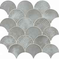 Daltile VM01 Vintage Metals Whitewash Titanium Fan Tile