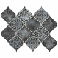 Daltile VM02 Vintage Metals Whitewash Iron Arabesque Tile