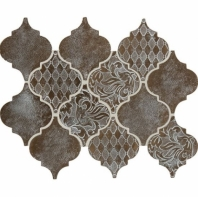 Daltile VM03 Vintage Metals Whitewash Classic Bronze Arabesque Tile