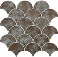 Daltile VM03 Vintage Metals Whitewash Classic Bronze Fan Tile