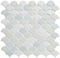 Scallop Lace Off White SCL593 Fan Tile