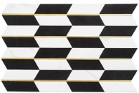 Golden Age Series Luxury Check Geometric Tile GOL463