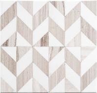 Picassa Series Paloma Taupe Chevron Tile PCA629