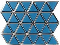Pinwheel Series Pompeii Blue Hexagon Tile PWL812