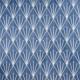 "Aries Azul with Blanco Line 8"" Hexagon Tile TLKRARSAZULLN"
