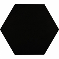 "Aries Nero 8"" Hexagon Tile TLKRARSNERO"