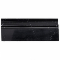 Nero Marquina Honed Base Molding BASEHONNEROMRQ