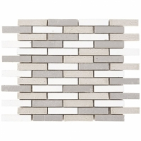 Downtown Brick Cold Mix 1/2x3 Interlocking Tile DWTNBRKCLDMX