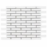Downtown Brick Vintage White 1/2x3 Interlocking Tile DWTNBRKVTGWHT
