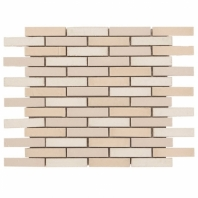 Downtown Brick Warm Mix 1/2x3 Interlocking Tile DWTNBRKWRMMX