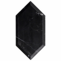 Nero Marquina Elongated Beveled Hexagon Tile ELBVHEXNEROMRQ