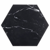 "Epoch Nero Marquina 10"" Hexagon Honed Tile EPCHNEROMRQHEX"