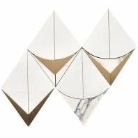 MJ Monte Carlo Bianco Geometric Waterjet Tile MJMNTCRLBNC