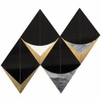 MJ Monte Carlo Nero Geometric Waterjet Tile MJMNTCRLNERO