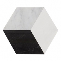 Pari Classico - Thassos, Nero and Carrara Polished Hexagon Tile PARICLASSICO