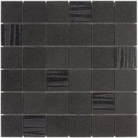 Sia Graphite 2x2 Mosaic Tile TLIBSIAGP2X2