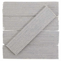 Urban Brick Stroke 2x9 Gray Polished Subway Tile URBBRKSTRKGRYP