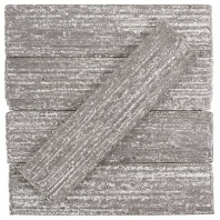 Urban Brick Stroke 2x9 Matte Gray Subway Tile URBBRKSTRKMGRY