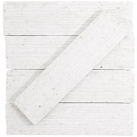 Urban Brick Stroke 2x9 White Polished Subway Tile URBBRKSTRKWHTP