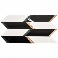 Waltz Noir Vera Geometric Tile WALTZNOIRVERA