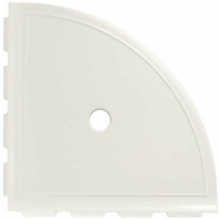 "Daltile White Gloss 9"" Large Corner Shelf with Flange"
