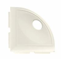 "Daltile White Gloss 5"" Corner Shelf with Flange"