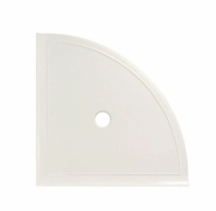 "Daltile White Gloss 9"" Large Corner Shelf with Flat Back"