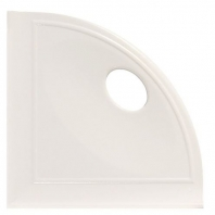 "Daltile White Gloss 5"" Corner Shelf with Flat Back"