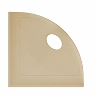 "Daltile Travertine 5"" Corner Shelf with Flat Back"