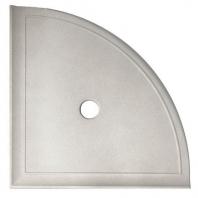 "Daltile Gray 9"" Large Corner Shelf with Flat Back"