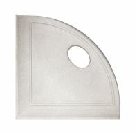 "Daltile Gray 5"" Corner Shelf with Flat Back"
