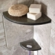 "Daltile Stainless 5"" Corner Shelf with Flange"
