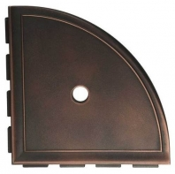 "Daltile Oil Rubbed Bronze 9"" Large Corner Shelf with Flange"