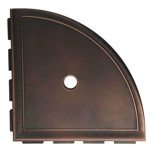 "Daltile Oil Rubbed Bronze 9"" Large Corner Shelf with Flange"