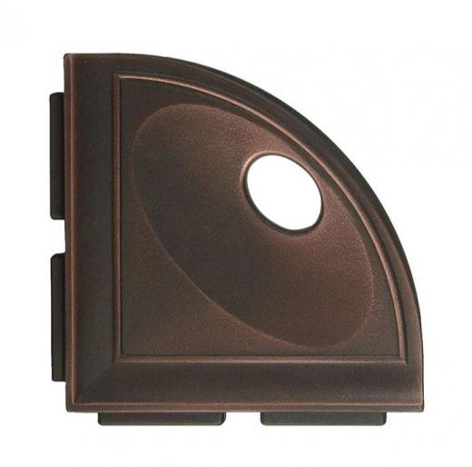 "Daltile Oil Rubbed Bronze 5"" Corner Shelf with Flange"